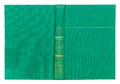 Vintage textile green book cover with gold pattern Royalty Free Stock Photo