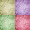 Vintage texture background collection retro ornament textures in various colors Stock Photography