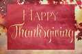 Vintage thanksgiving autumn background with happy text Royalty Free Stock Images