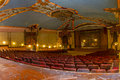 Vintage theater stage and seats Royalty Free Stock Photo