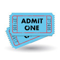 Vintage Ticket Royalty Free Stock Photography