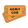 Vintage Tickets Stock Images