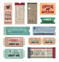 Vintage tickets Stock Photo