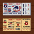 Vintage tickets to the championship baseball and softball
