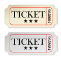 Vintage tickets two isolated in white background Royalty Free Stock Photography
