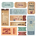 Vintage tickets vector set Stock Images