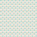 Vintage tiling seamless pattern with hearts. Abstract retro ornament made of simple geometric shapes