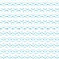 Vintage tiling seamless pattern with waves. Abstract retro ornament made of simple geometric shapes