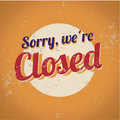 Vintage tin sign - Closed Royalty Free Stock Photos