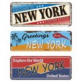 Vintage Tin Sign NEW YORK Retr...