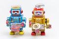 Vintage tin toy robot Royalty Free Stock Photo