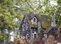 Vintage tiny fairy tale rock cottage detailed Royalty Free Stock Photography
