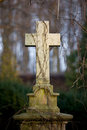 Vintage Tombstone Cross Royalty Free Stock Images