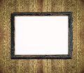 Vintage tone of frame on wooden