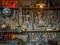 Vintage Tools Workshop Stock Photo