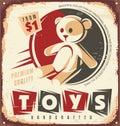 Vintage toy store metal sign