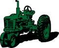 Vintage Tractor Clip Art