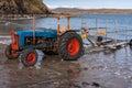 Vintage Tractor Pulling Trailer