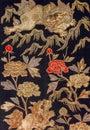 Vintage traditional japanese silk kimono Japan pattern on decora Royalty Free Stock Photo
