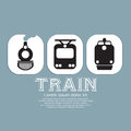 Vintage train collection vector illustration eps Stock Image