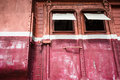 Vintage train door the loading doorway and steps of an old antique rail car Royalty Free Stock Images
