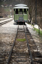 Vintage train photo of station Royalty Free Stock Image