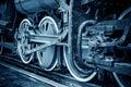 Vintage train wheels Closeup Royalty Free Stock Photo