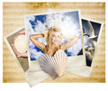 Vintage Travel Love. Retro Holiday Photo Gallery Stock Images