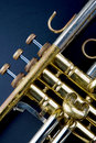 Vintage Trumpet Stock Photography