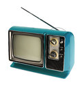 Vintage TV Stock Photo