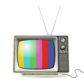 Vintage tv colors screen Stock Photography