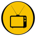 Vintage tv icon Royalty Free Stock Photos