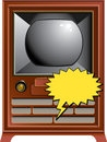 Vintage TV illustration Royalty Free Stock Images