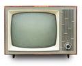 Vintage TV set Stock Images