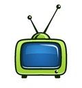 Vintage tv set vector clipart Stock Images