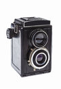 Vintage twin-lens camera for roll film Royalty Free Stock Photo