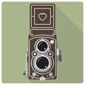 Vintage twin lens reflex camera icon Royalty Free Stock Photo