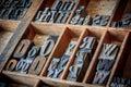 Vintage typescript for letterpress