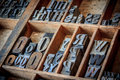 Vintage typescript for letterpress Royalty Free Stock Photo