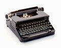 Vintage typewriter black on white background Stock Image