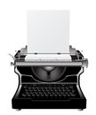 Vintage typewriter icon against white background Stock Photography