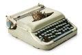Vintage typewriter isolated on white background Stock Image