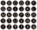 Vintage Typewriter Key Alphabet Stock Photo