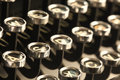 Vintage typewriter keys Royalty Free Stock Photo