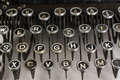 Vintage typewriter keys closeup of Stock Image
