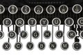 Vintage Typewriter Keys Isolated Stock Photo