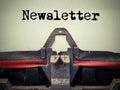 Vintage typewriter newsletter text Royalty Free Stock Photo