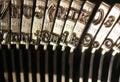 Vintage typewriter - number and letter keys Stock Image