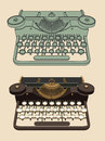 Vintage typing machine old isolated Stock Photos