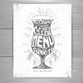 Vintage typography cocktail menu design Royalty Free Stock Photo